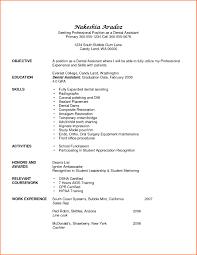 Dental Assistant Skills For Resume Free Resume Templates