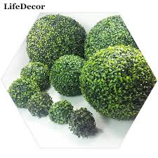 Green Grass Decorative Balls Artificial Green Grass Plants Balls Home Garden Decor Hanging 2