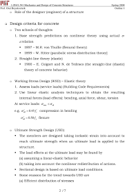 Elastic Theory Of Design 1 054 1 541 Mechanics And Design Of Concrete Structures 3 0