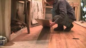 flooring how to install laminate wood over linoleum