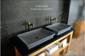 concrete vessel sink gray basalt stone bathroom sink concrete look dune moon concrete vessel sink diy