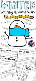Make writing fun this winter with these winter writing and word work pages  Activity pages