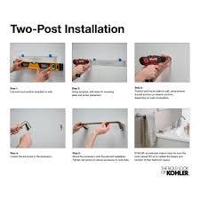 kohler in wall mount toilet paper