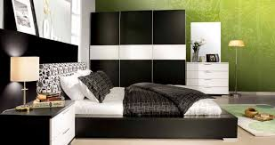 bedroom colors with black furniture. Bedroom, Agreeable Black Modern Bed Idea Beside Terrific Side Table Design And Cute White Shade Bedroom Colors With Furniture H