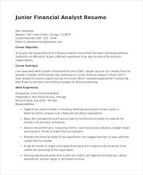 Sales Analyst Resume Financial Analyst Resume 12 Pdf Word Documents Download