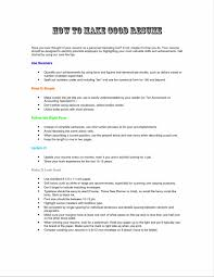 Prepossessing Make A Good Resume Online With Additional Resume