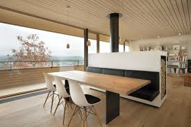 furniture divider design. how awesome is this design by k m architektur with its bench seating built into the back of fireplace furniture divider n