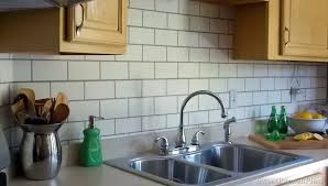 Painting Kitchen Tile Backsplash Amazing Painted Subway Tile Backsplash Remodelaholic