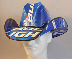 Bud Light Box Cowboy Hat Beer Box Cowboy Hat Made From Recycled Bud Light Boxes