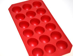 round ice cube tray flexible red circle ball sphere cubes maker cocktail drink