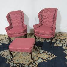 Hickory Manor Pair Wing Chairs Casey and Gram
