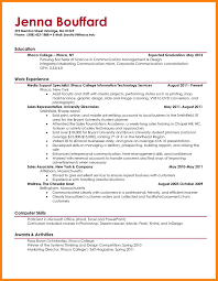 sample reusme for first year college student seeking job position
