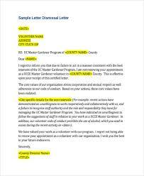 Examples Of Dismissal Letters 8 Joele Barb