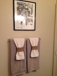 Bathroom towels nice way of adding detail on the towel without