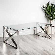 chrome coffee table. KSP Xframe Coffee Table (Chrome) Chrome E