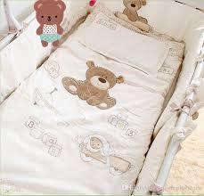 cotton baby cot bedding set newborn cartoon bear crib bedding detachable quilt pillow pers sheet bed baby bedding sets child comforter sets train bedding