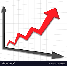 Arrow Chart Graph Chart Red Arrow
