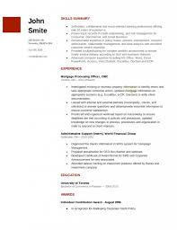 Loanicer Resume Template Free No Experience Mortgage Objective