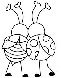 Small Picture Love Bugs Valentines Day Coloring Page and Song KIboomu Kids