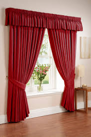 ... Drop Dead Gorgeous Accessories For Window Treatment Decoration Using  Modern Red Curtain : Beautiful Accessories For ...