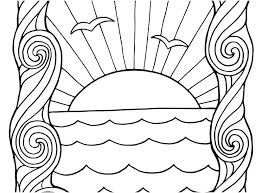 Sunset Coloring Pages Sunset Coloring Pages New Waves Coloring Sheet