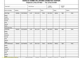 Printable Diabetic Food Chart Spreadsheet Blood Sugar Log Template