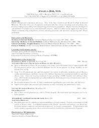 Physician Resume Examples Resume Sample Resume Format Doctors ...