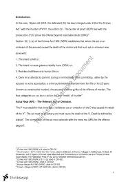 murder prob question llb criminal law and process a topics this document covers law criminal