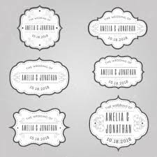 Wedding Label Templates Wedding Tags Templates Classical Rounded Decor Png Images