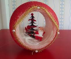 Bad craft santa. Hollowed-out styrofoam ball ...