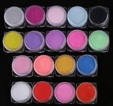 18ks Akryl Barevný Akrylová Barva Akrylový Pudr Na Nehty 18x7g Z028