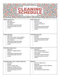 cleaning schedule printable free printable cleaning schedule frugal mom eh