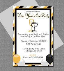 Invitation Template For Word Stunning New Years Party Invitations Templates Bino48terrainsco