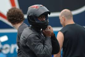 michael jordan on the track with his motorsports racing team