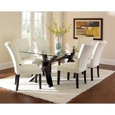 lowest on all steve silver berkley gl top dining table in espresso cherry be500 kit