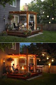 diy deck lighting. build your pergola above a wooden deck and light it up with string lights diy deck lighting