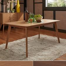 penelope danish modern tapered leg dining table inspire q modern throughout round taper traditional wood table