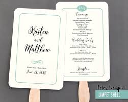 Wedding Program Fans Cheap Simple Border Script Wedding Program Fan Cool Colors
