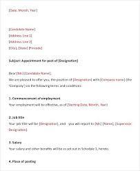 Job Offer Letter Template Pdf Fresh Job Letter From Employer Job