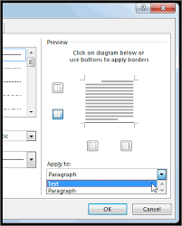 How To Add A Drop Down Box In Word Add A Border To Some Text Office Support