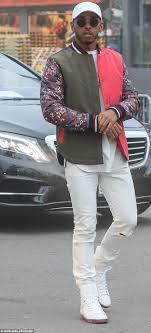 Lewis Hamilton rocks bold jacket at Tommy Hilfiger LA show   Daily ...