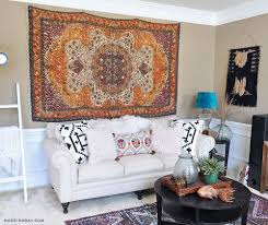 how to hang round rug on wall designs