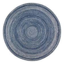 epona braided 8 ft round blue area rug