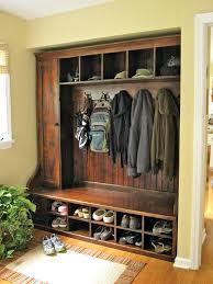 Front Door Bench Coat Rack Extraordinary Front Entry Bench With Storage Domk