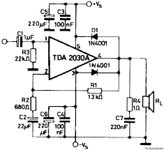 tda amplifier circuits tda2030 amplifier circuit 20w tda2030 diagram