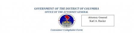 Oag Consumer Complaint Form | Dcforms