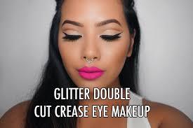 talk talk heavy eye makeup with gles