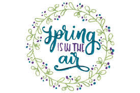 The most common machine embroidery applique fonts commercial free machine embroidery designs and applique machine embroidery files for every embroidery machine brand! Spring Is In The Air Creative Fabrica