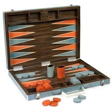 bone backgammon set orange moon
