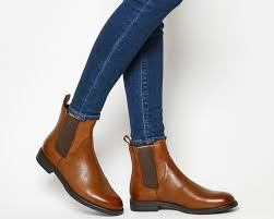 sentinel womens vagabond amina chelsea boots cognac leather boots